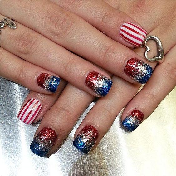 45 4th of July Nail Art Design Ideas