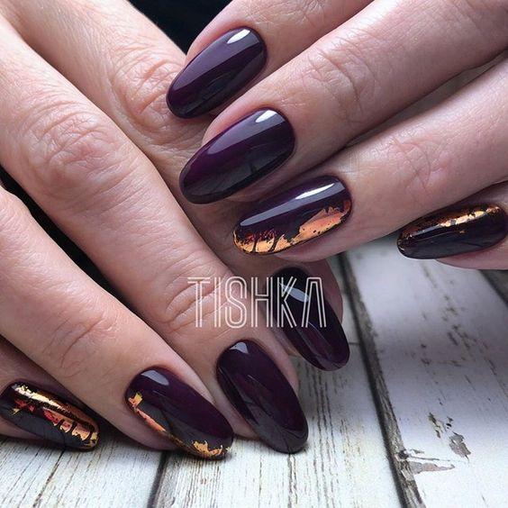 65 Gorgeous Foil Nail Art Designs