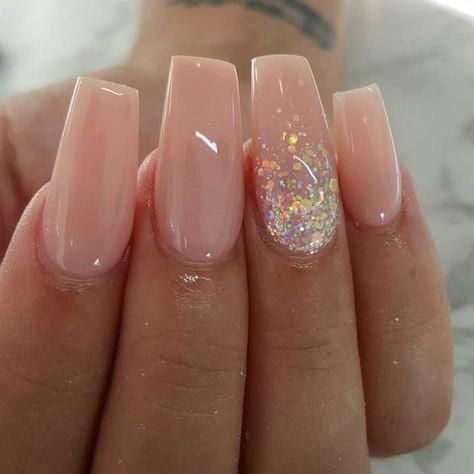 60 gorgeous glitter acrylic coffin nails designs  xuzinuo