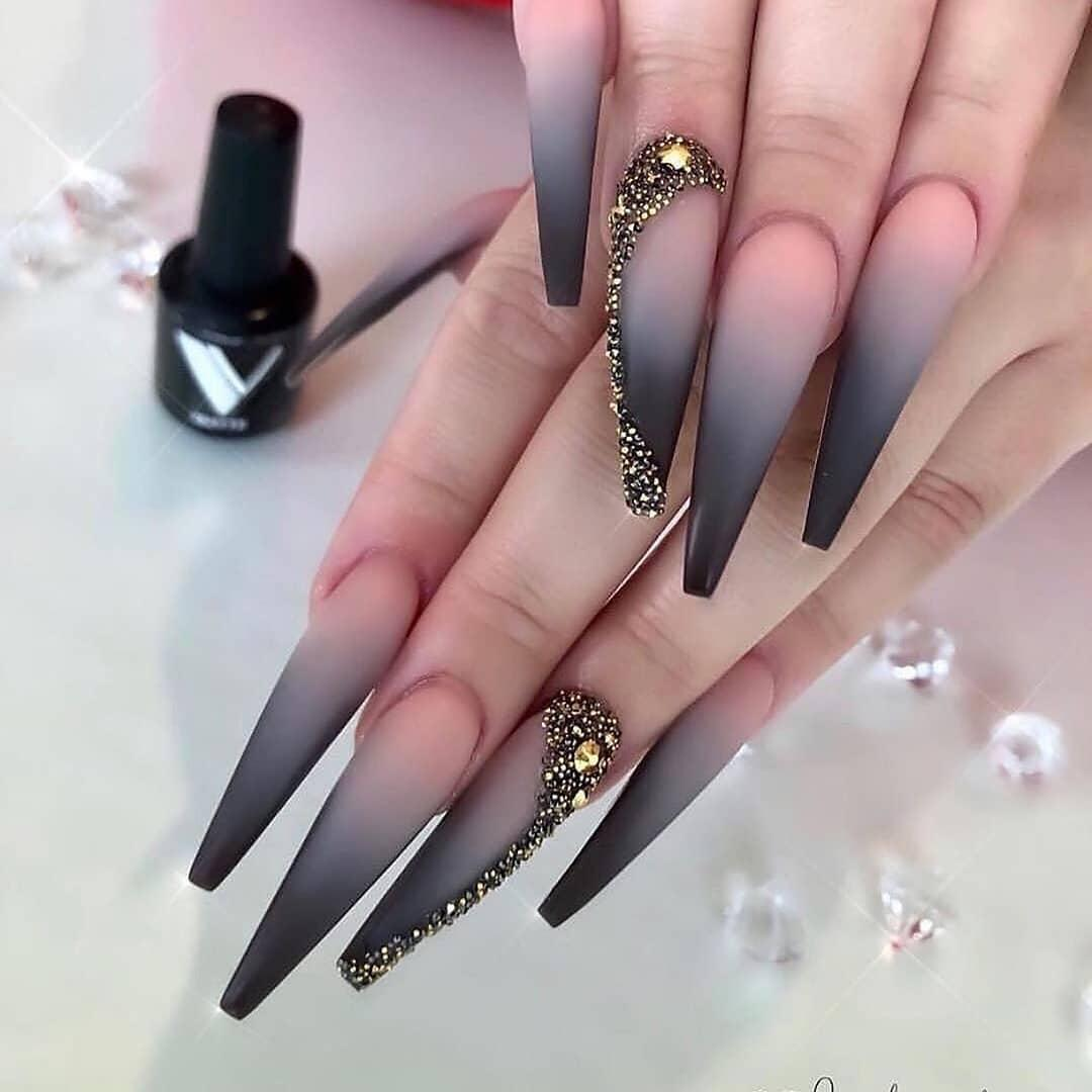 49 Outstanding Acrylic Coffin Nail Designs