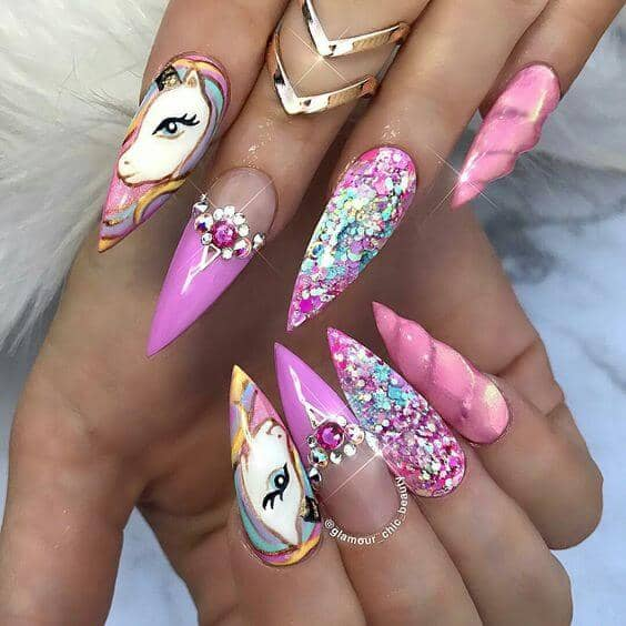 56 Best Unicorn Nail Designs and Ideas