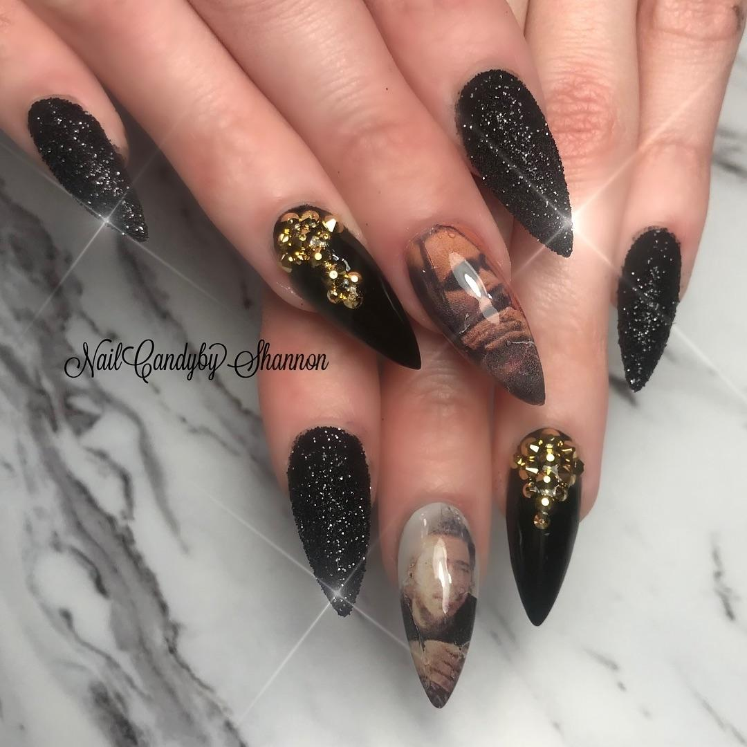 54 Elegant Black Nail Art Designs and Ideas