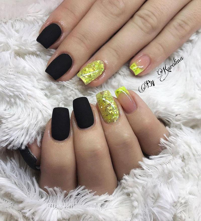 54 Elegant Black Nail Art Designs and Ideas
