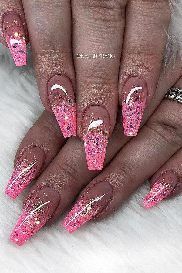 45 Pretty Glitter Nail Art Designs You Should Try