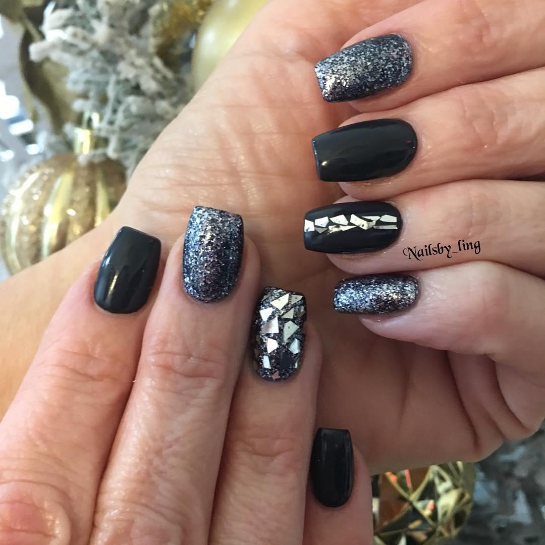 42 Elegant Black Nail Art Designs and Ideas