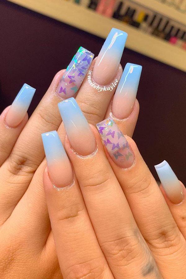 56 Trendy Ombre Nail Art Designs