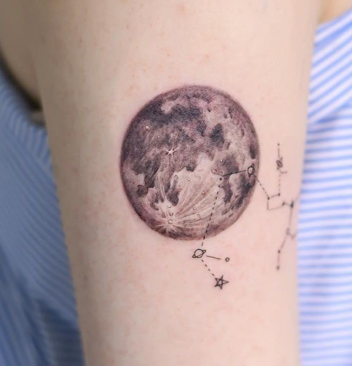 38 Elegant Moon Tattoo Designs For Women 2019
