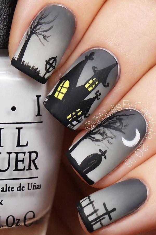 56 Easy Halloween Nail Art Designs 2019