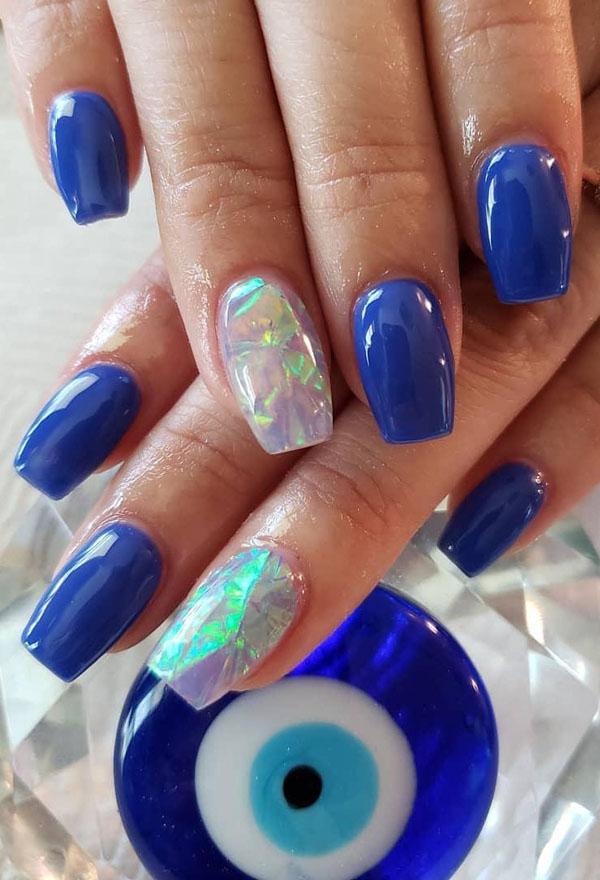 67 Stunning Dark Blue Nail Designs