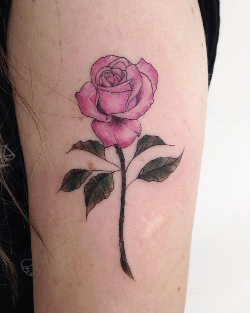 45 Beautiful Rose Tattoos For Women
