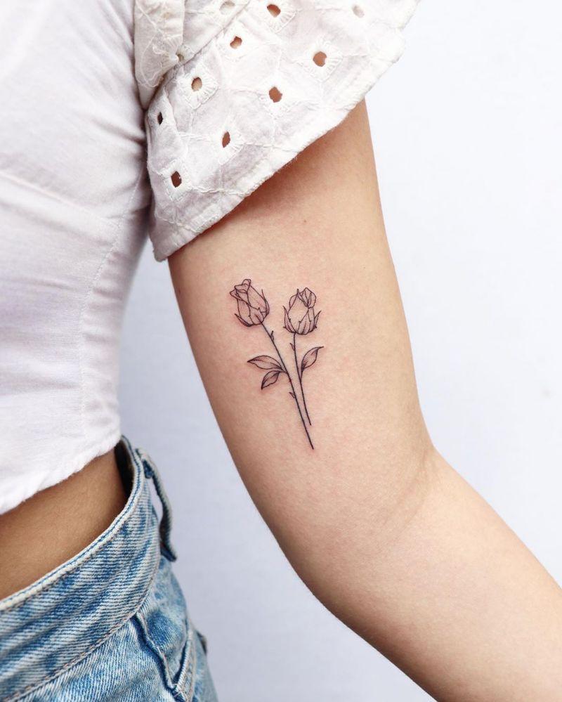 45 Beautiful Rose Tattoos For Women
