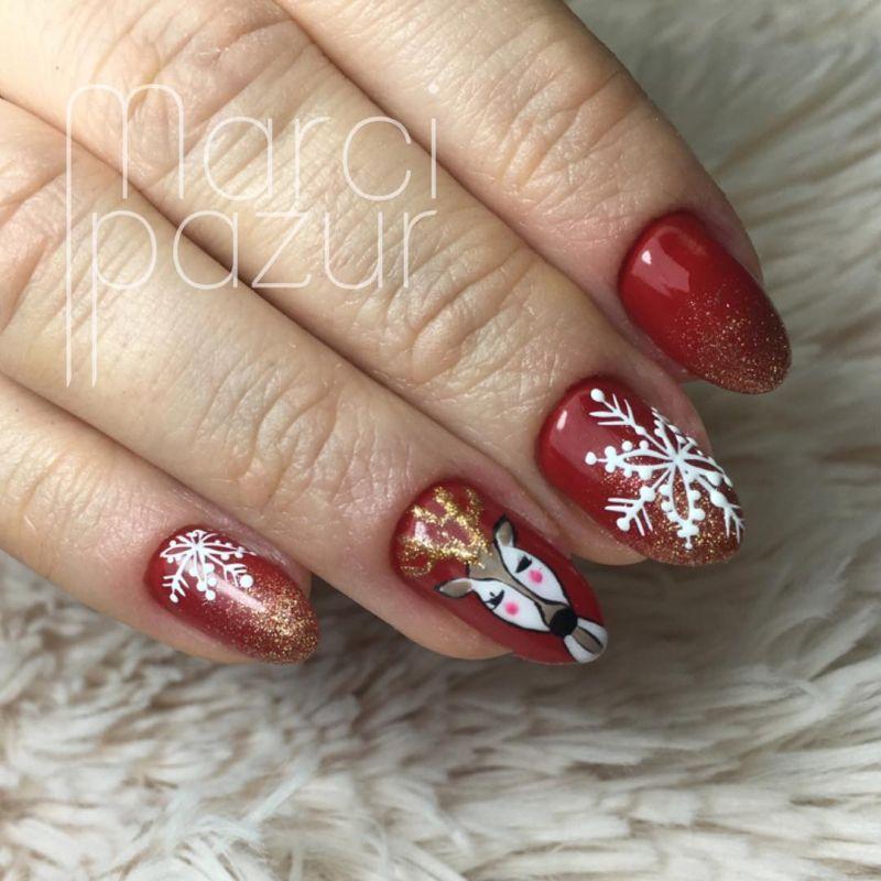 43 Fantastic Christmas Nail Art Designs To Spice up Holiday Season