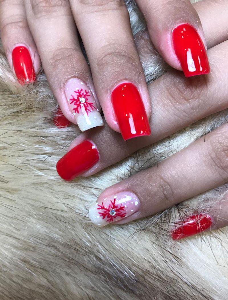 50 Beautiful Snowflake Nail Art Designs For Winter 2019