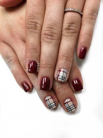 51 Gorgeous Plaid Christmas Nails To Celebrate Holiday