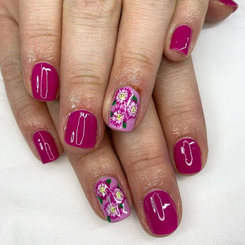 55 Gorgeous Floral Nail Art Designs for Spring