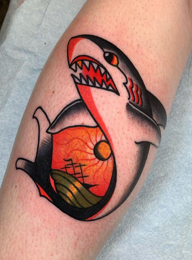 55 Gorgeous Shark Tattoos to Inspire You