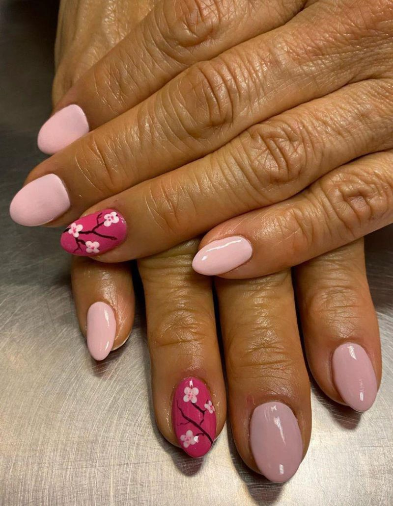 50 Trendy Cherry Blossom Nails for Spring You Will Love