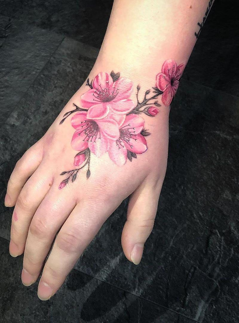 50 Pretty Cherry Blossom Tattoos Make You Charming