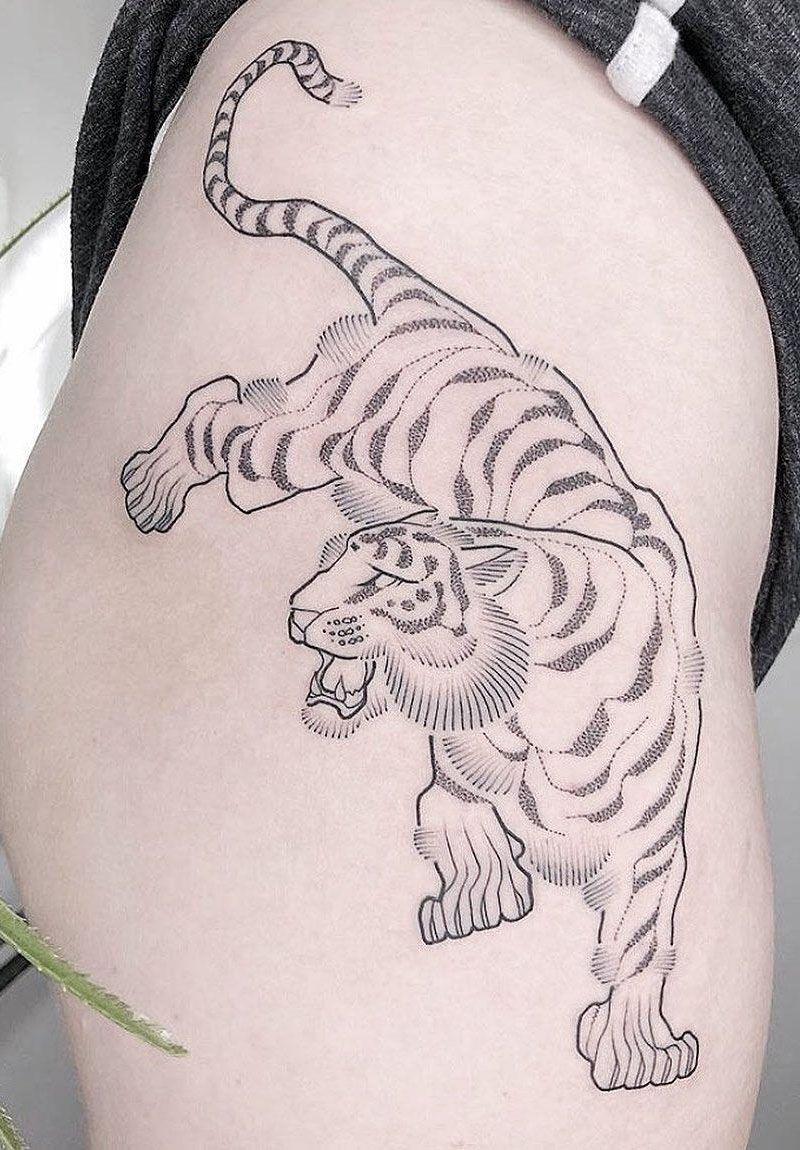 50 Fierce Tiger Tattoos Make You Brave