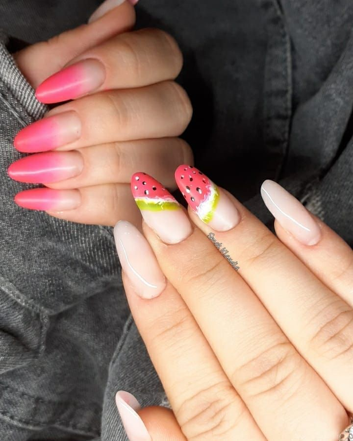 30 Trendy Watermelon Nail Art Designs for Summer