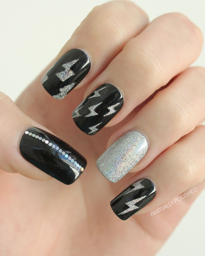 30 Pretty Lightning Nail Art Designs You Will Love