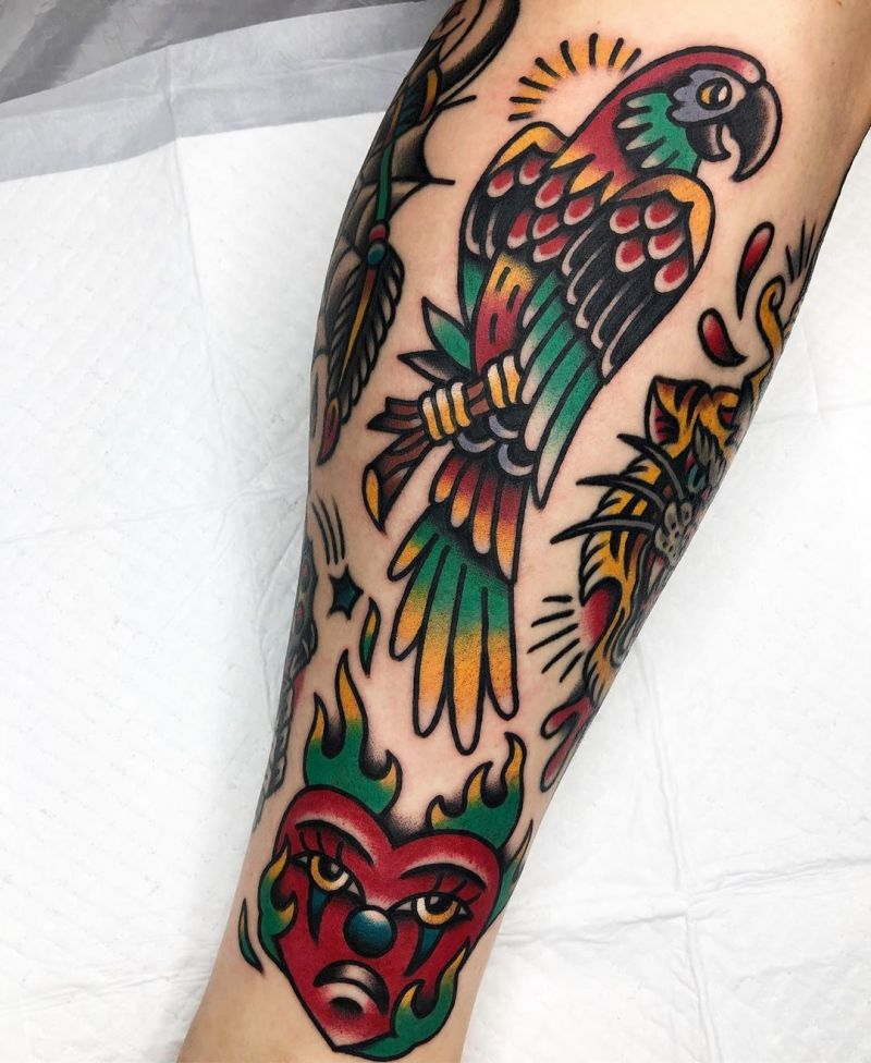 30 Stunning Parrot Tattoos You Will Love