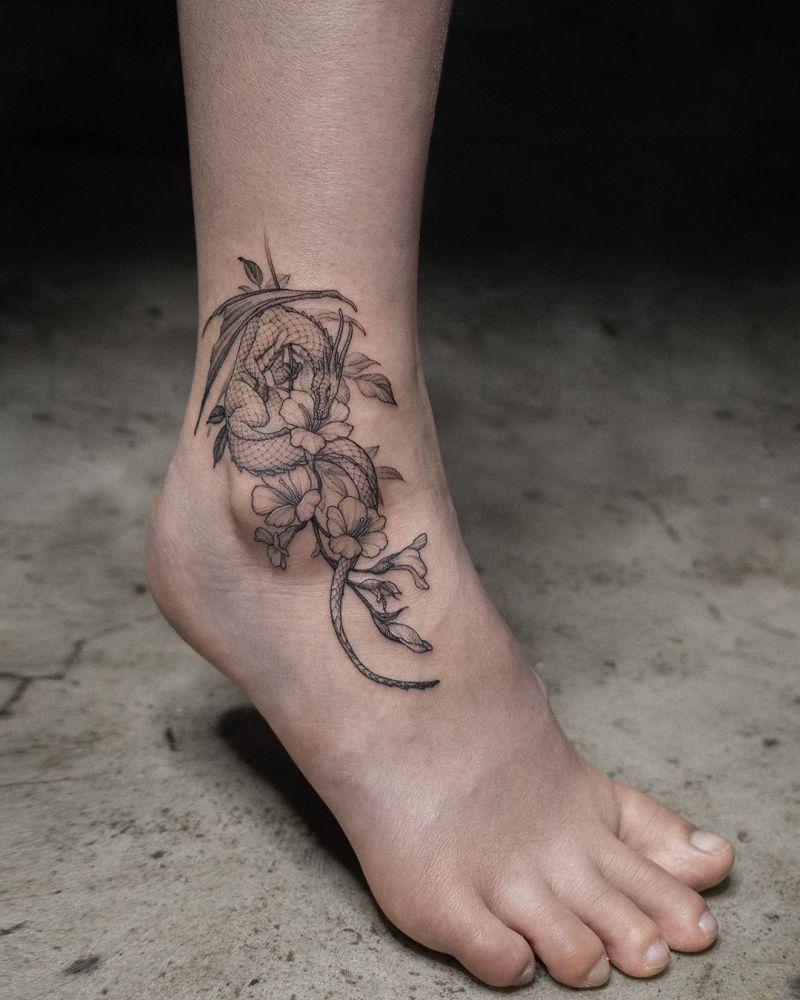 30 Pretty Dragon Tattoos Improve Your Temperament