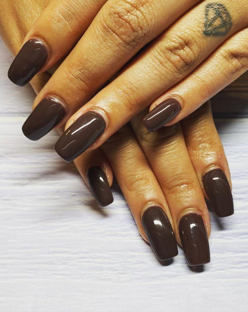 30 Trendy Chocolate Acrylic Nails Make You Sweet Forever
