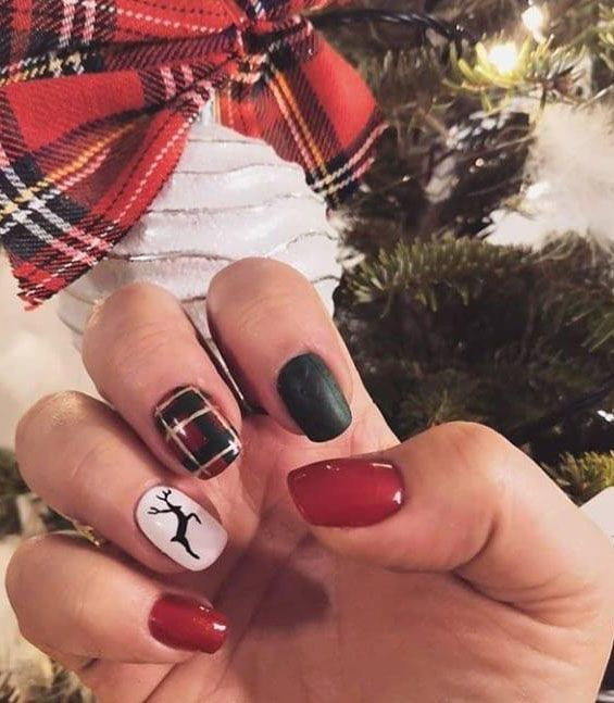30 Christmas Reindeer Nail Art Designs You Must Try