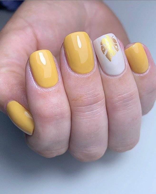30 Trendy Mustard Nails To Inspire You