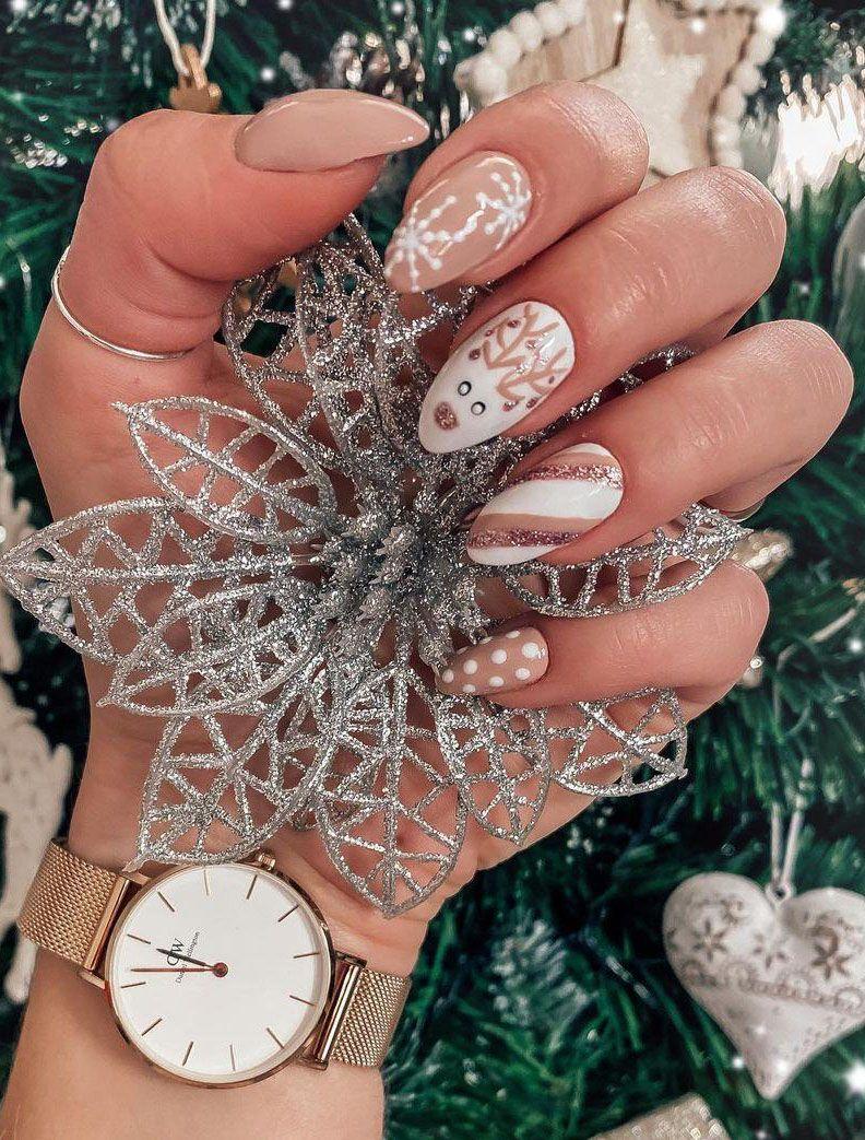 30 Christmas Reindeer Nail Art Designs You Must Try