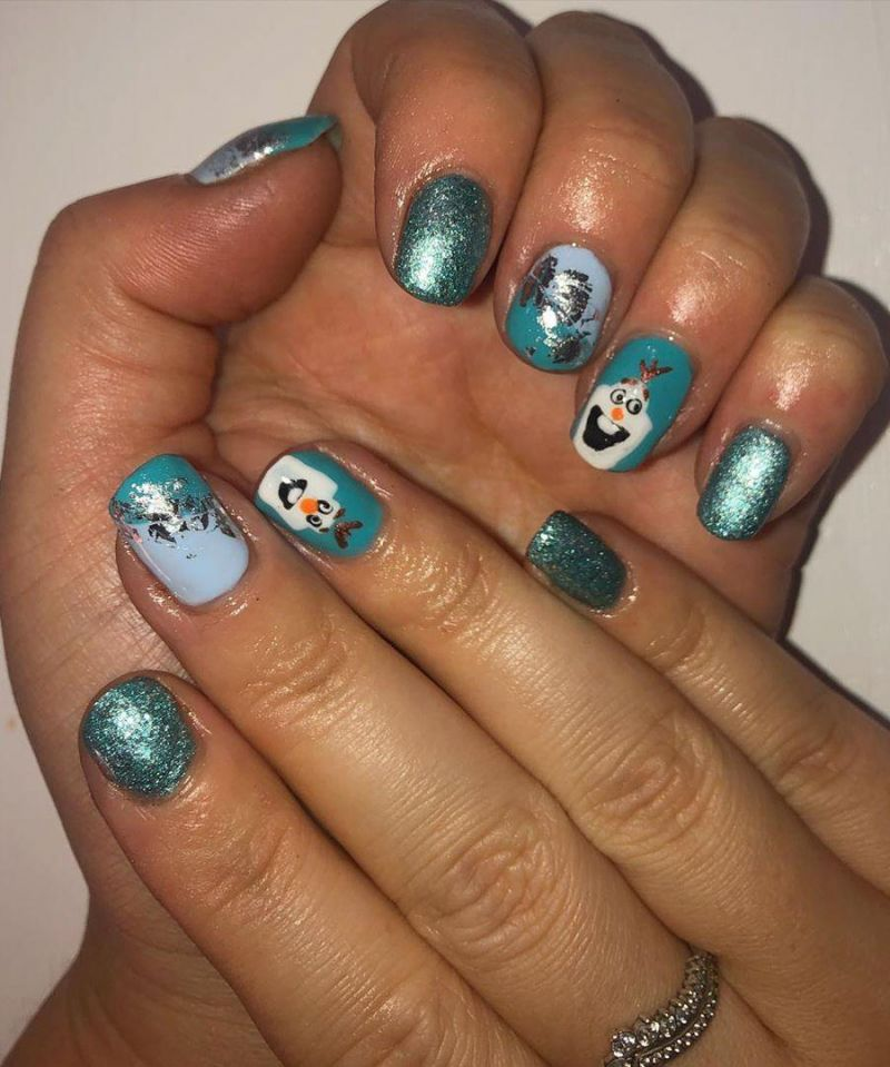 30 Trendy Olaf Nails to Try Right Now