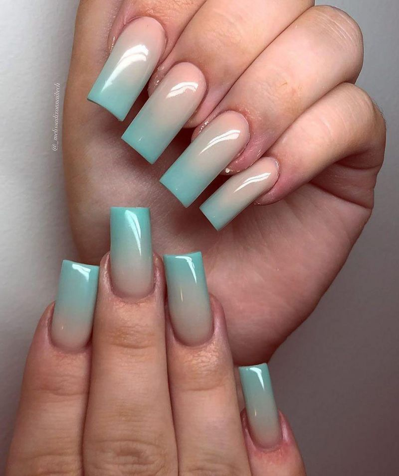 30 Trendy Blue Ombre Nails to Make You Attractive