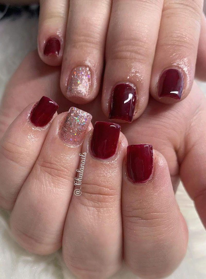 30 Trendy Burgundy Nails Make You Attractive