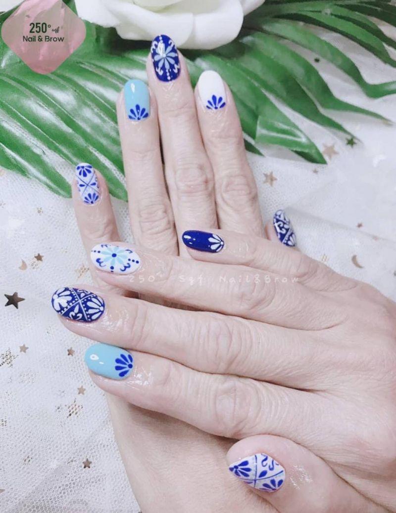 30 Stunning Porcelain Nail Art Designs