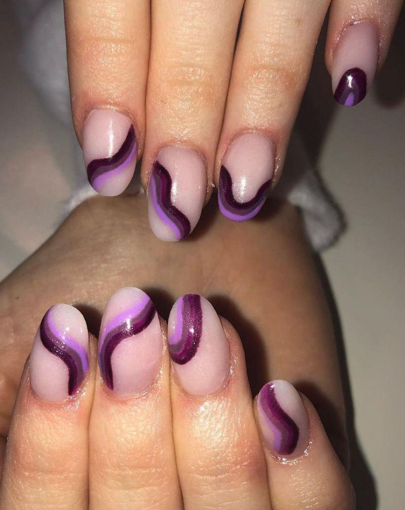30 Pretty Purple Acrylic Nails to Express Your Personality