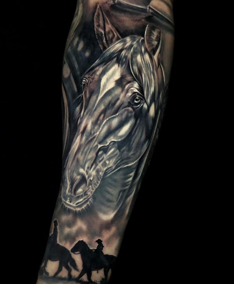 30 Pretty Horse Tattoos Make You Brave