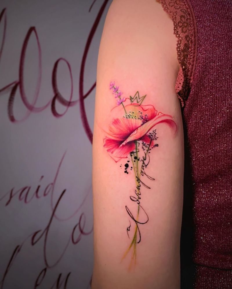 30 Pretty Watercolor Tattoos You Must Try