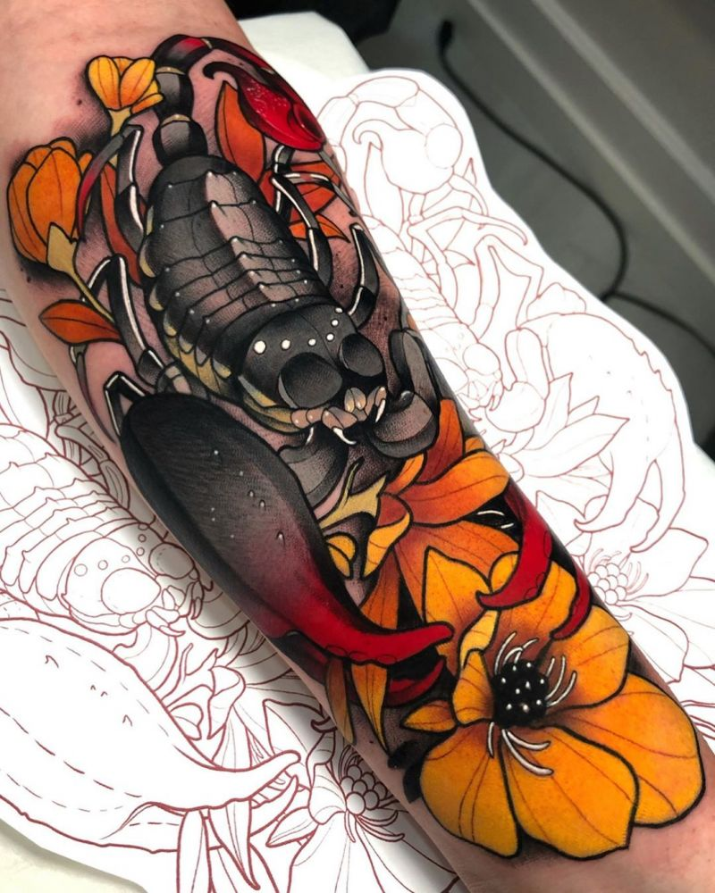 30 Superb Scorpion Tattoos You Must Try