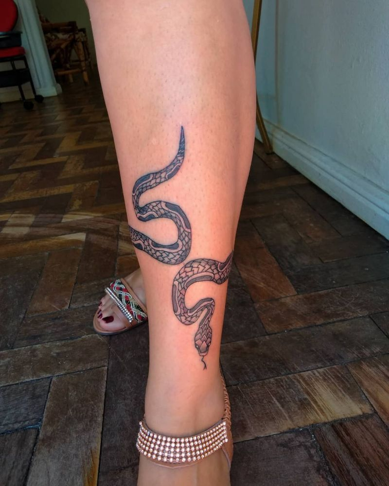 30 Pretty Snake Tattoos You Must Try