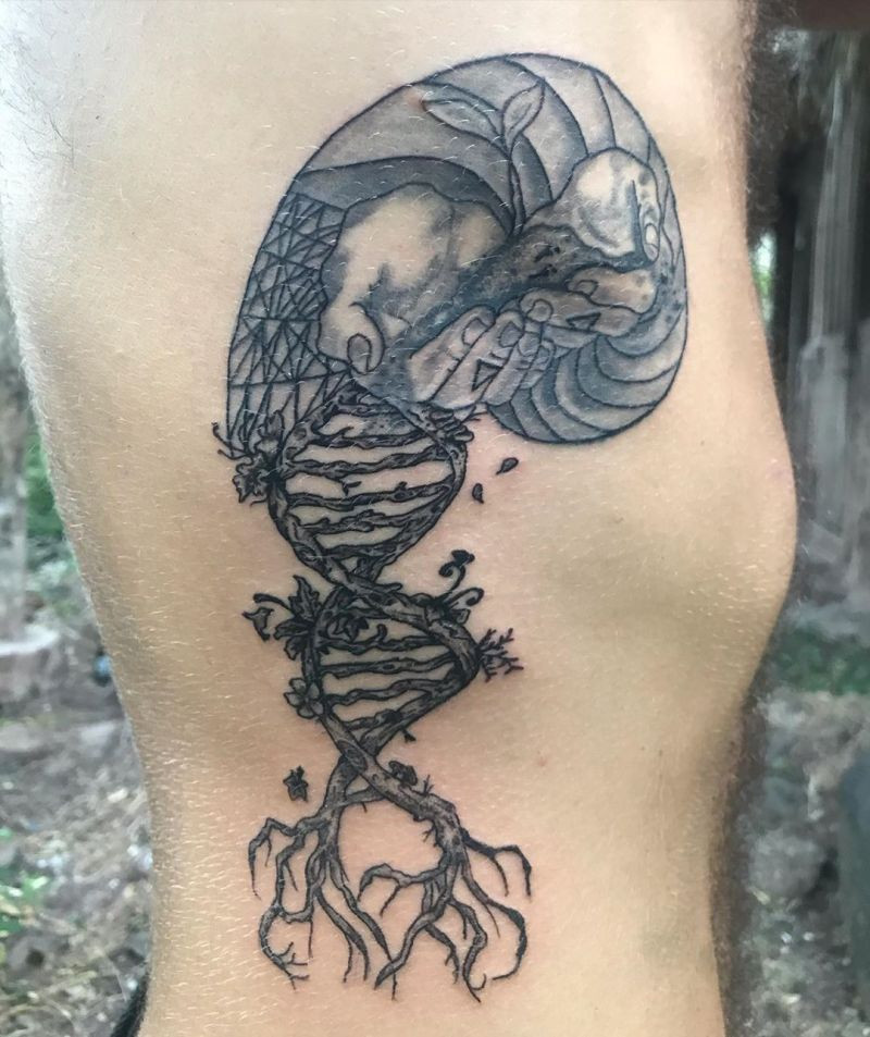 30 Pretty DNA Tattoos You Must Try