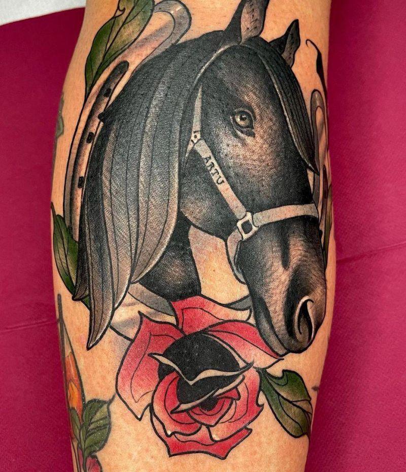 30 Pretty Horse Tattoos Make You Brave
