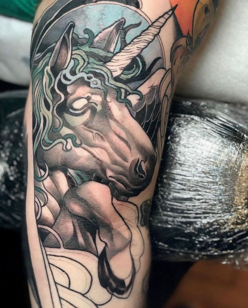 30 Excellent Unicorn Tattoos You Will Love
