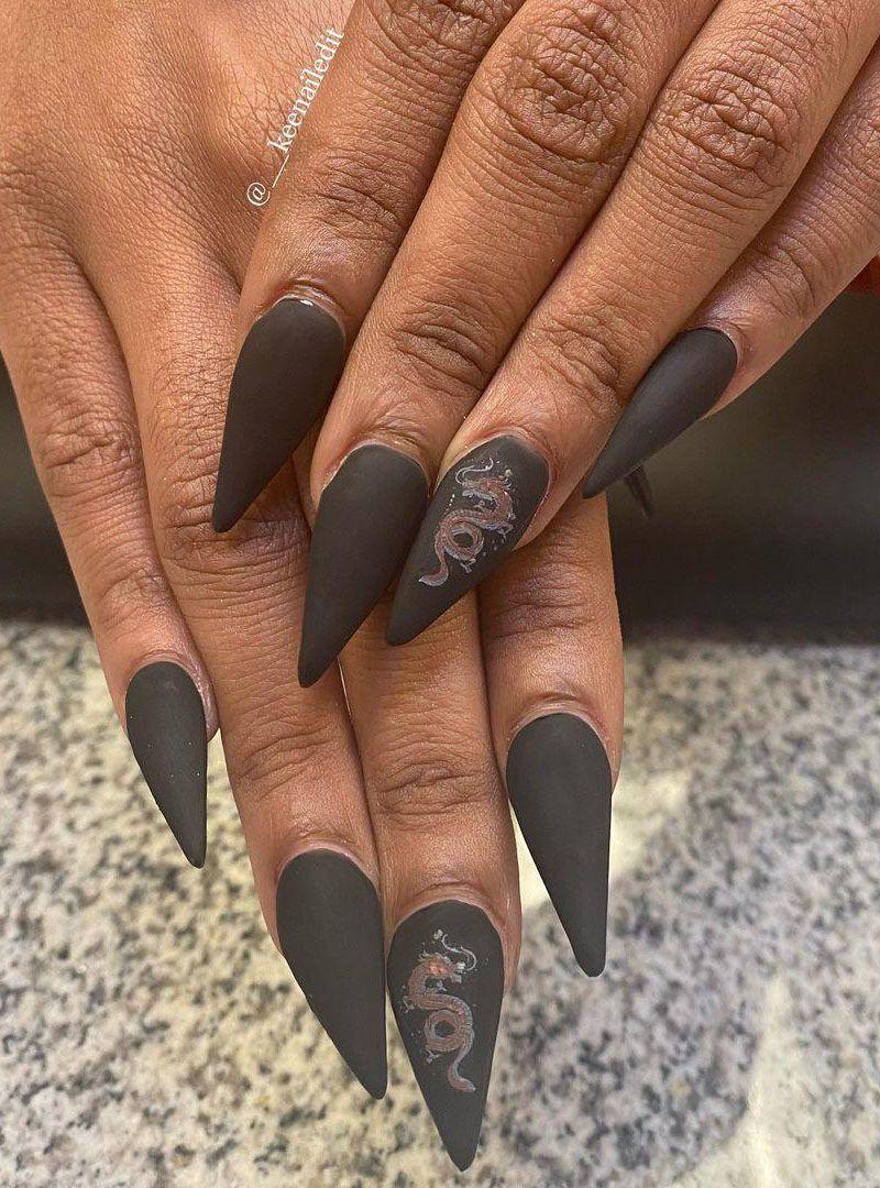 30 Pretty Dragon Nails You Can Copy