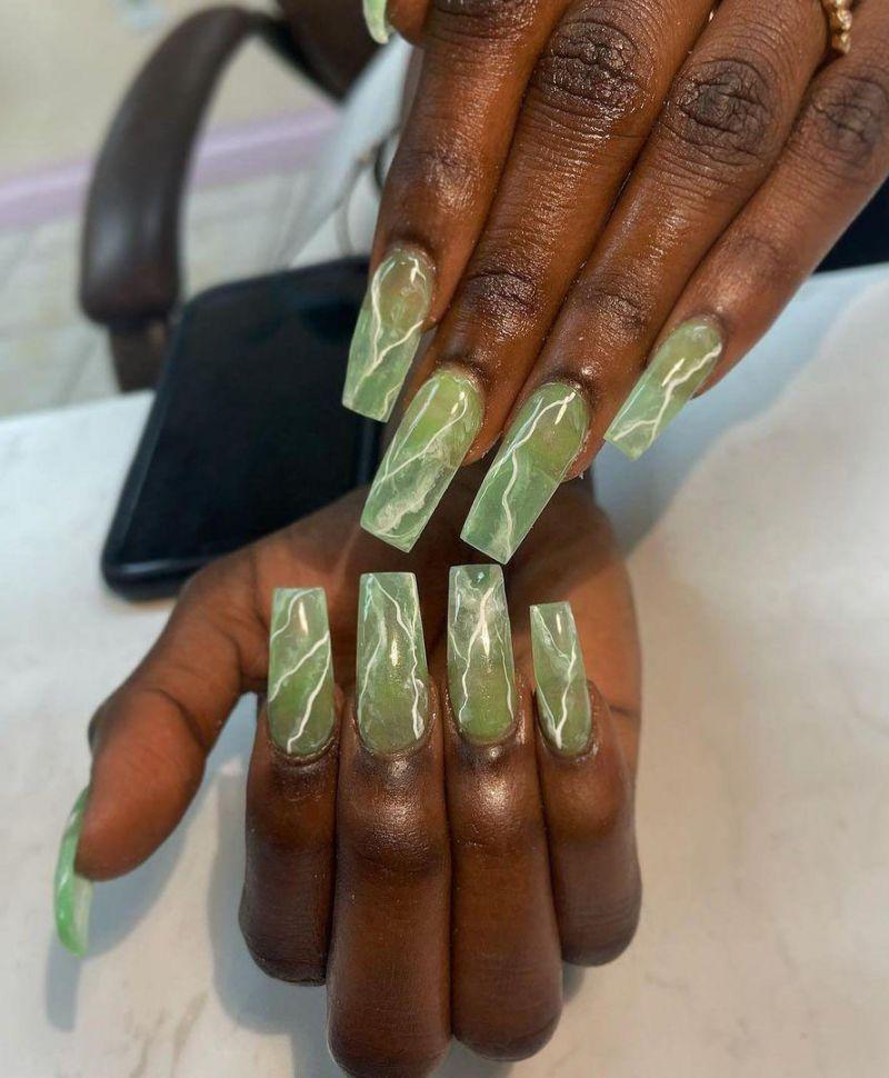 30 Elegant Jade Nail Art Designs You Will Love