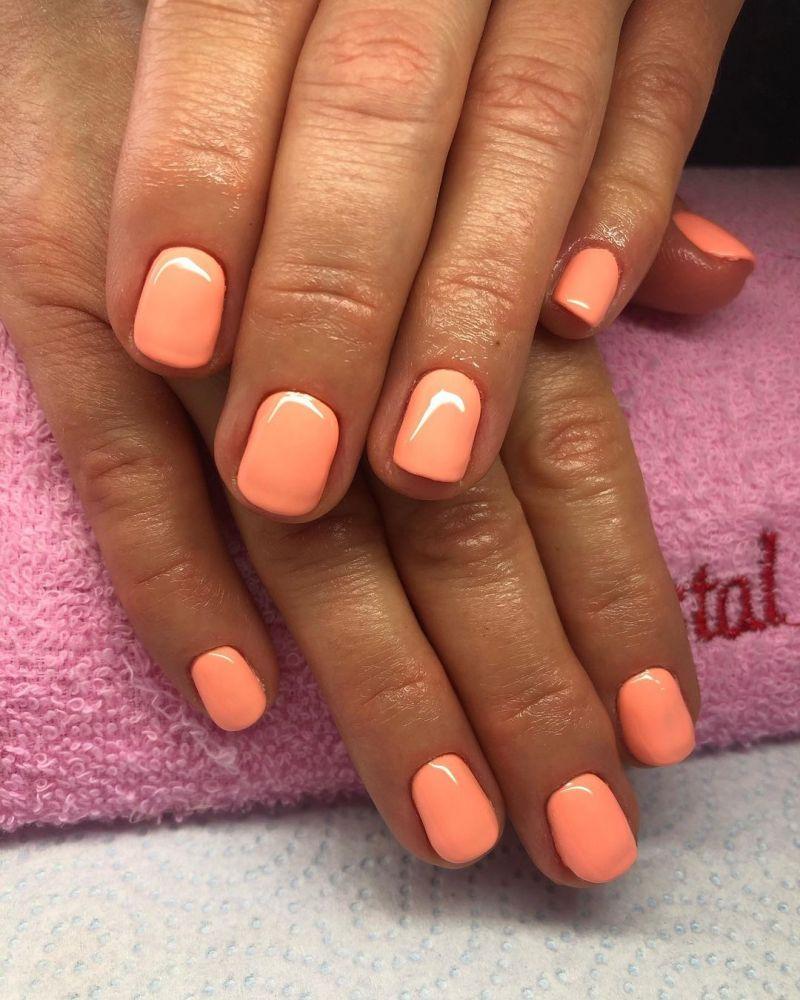 30 Pretty Peach Acrylic Nails You Will Love