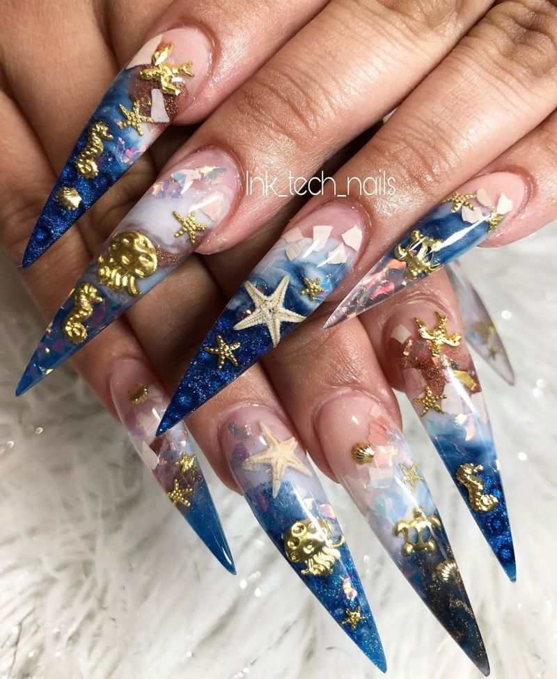 30 Stylish Beach Nail Art Designs You Will Love