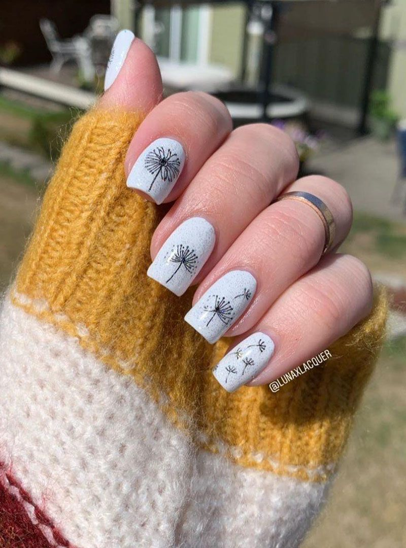 30 Trendy Dandelion Nail Art Designs You Need to Try