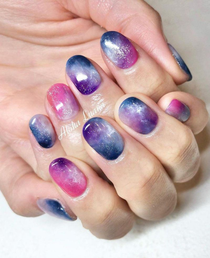 30 Gorgeous Galaxy Nail Art Designs You Must Love