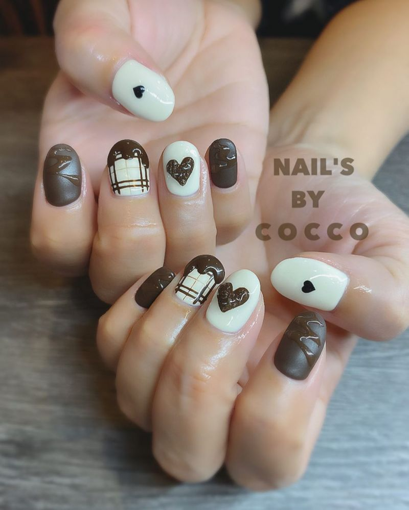 30 Gorgeous Chocolate Nail Art Designs Just For You